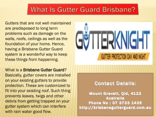 Brisbane Gutter Guard