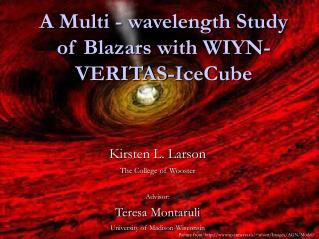 A Multi - wavelength Study of Blazars with WIYN-VERITAS-IceCube