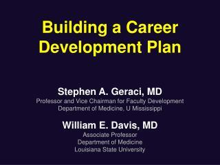 Building a Career Development Plan