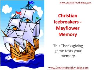 Christian Icebreakers - Mayflower Memory