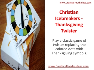 Christian Icebreakers - Thanksgiving Twister