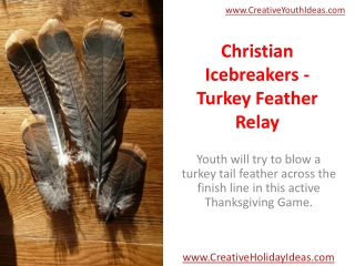 Christian Icebreakers - Turkey Feather Relay