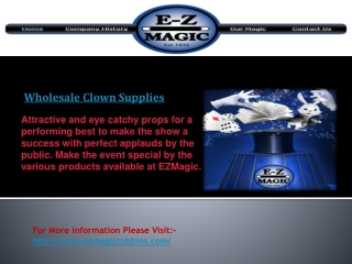 Wholesale Clown Supplies