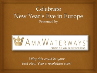 Celebrate New Year's Eve in Europe