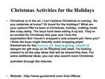 Christmas Activities for the Holidays