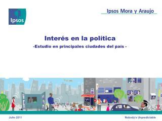 datos de encuesta: interes en la politica