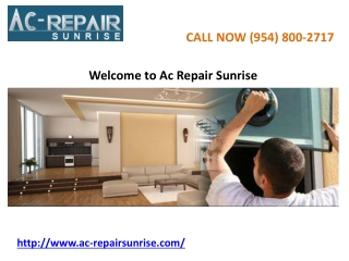 AC Repair Services Sunrise fl
