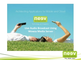 Live Audio Broadcast with Wowza Media Server