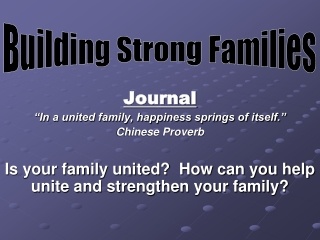 Building Strong Familes