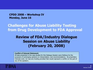 challenges for abuse liability testing from drug development to fda approval