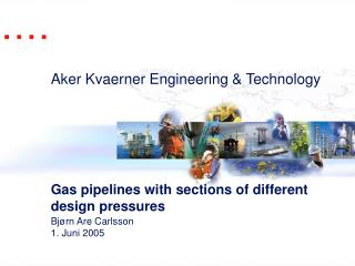 Gas pipelines with sections of different design pressures