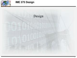 IME 375 Design