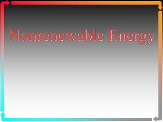 Nonrenewable Energy