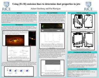 using fe ii emission lines to determine dust properties in jets