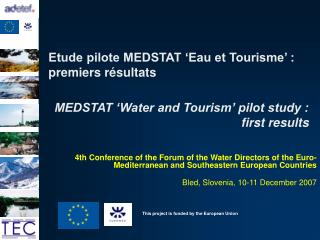 Etude pilote MEDSTAT  Eau et Tourisme  : premiers r sultats