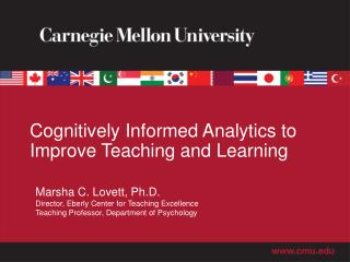 Cognitively Informed Analytics to Improve Teaching and Learning