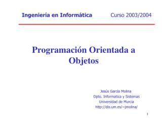 Programaci n Orientada a Objetos