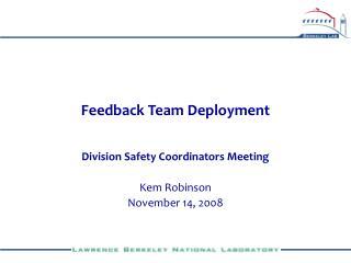 Feedback Team Deployment