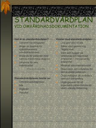 STANDARDV RDPLAN VID OMV RDNADSDOKUMENTATION