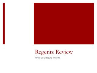 regents review