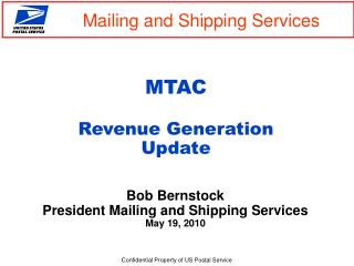 MTAC  Revenue Generation  Update