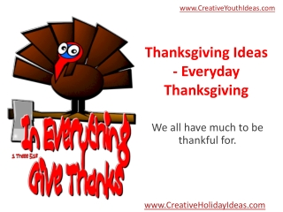 Thanksgiving Ideas - Everyday Thanksgiving