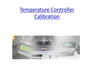 Temperature Controller Calibration