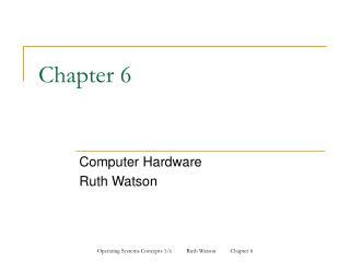 Computer Hardware Ruth Watson