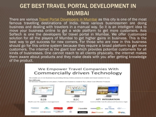Get Best Travel Portal Development in Mumbai