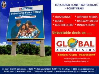 HDFC Outdoor Media Partner Global Advertisers
