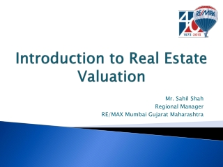 Introduction to Real Estate Valuation