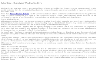 Shutters and Blinds Brisbane