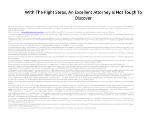 With The Right Steps, An Excellent Attorney2