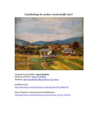 Landschap in neder-oostenrijk 1907 -- Artisoo