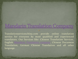 Web site translate serves at translationserviceschina.com
