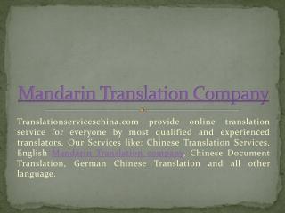 Web site translate serves at translationserviceschina.com