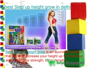 best Step up height grow in delhi