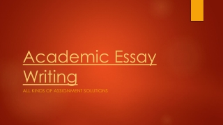 Academic Essay writing