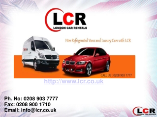 Luxury Vehicle Rentals in London