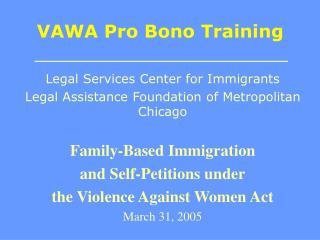 VAWA Pro Bono Training
