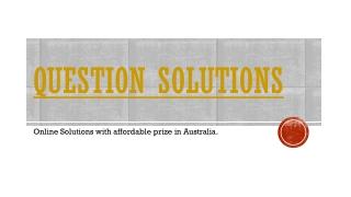 Question solution