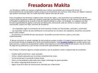 Fresadoras Makita