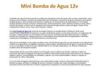 Bomba 12v Agua