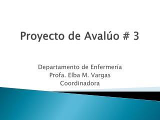 Proyecto de Aval o  3
