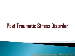 Help Guide for Post Traumatic Stress Disorder