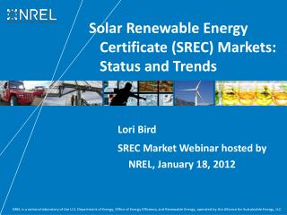 Solar Renewable Energy Certificate SREC Markets: Status and Trends