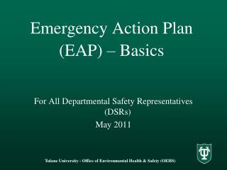 Emergency Action Plan EAP   Basics