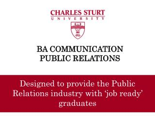 BA COMMUNICATION PUBLIC RELATIONS
