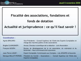 Fiscalit  des associations, fondations et  fonds de dotation Actualit  et jurisprudence : ce qu il faut savoir