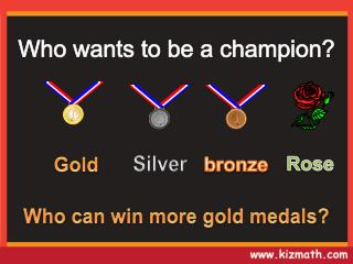 Who can win more gold medals